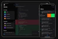 GitHub mobile app in dark mode