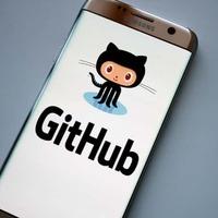GitHub logo on phone