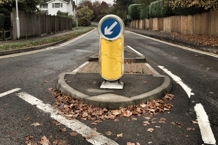 UK Keep Left bollard