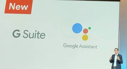David Thacker, VP Product and Design for G Suite, presenting at Google Next in London