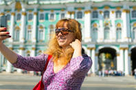 Taking a selfie in Saint Petersburg