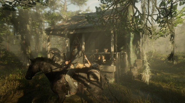 From the highest peaks to muggy swamps, there's variety in RDR2's biomes