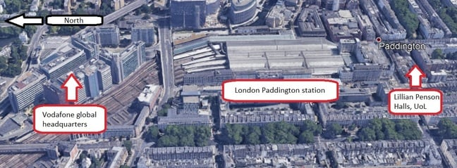 Lillian Penson Hall, Paddington station and Vodafone HQ