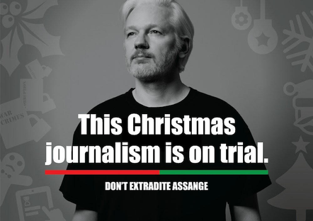 Brian Eno's Assange-themed Christmas card