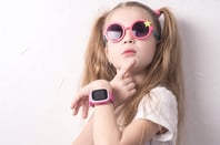 Girl with watch
