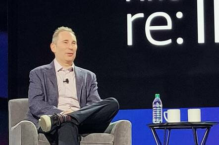Andy Jassy, AWS CEO, at re:Invent in Las Vegas