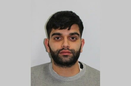 Zain Qaiser, jailed ransomware operator. Custody pic: National Crime Agency
