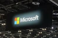 Microsoft sign at Ignite in Orlando
