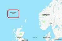 The Faroe Islands are roughly midway between Scotland and Iceland. Pic: Bing Maps
