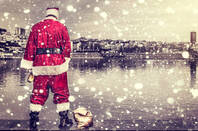 santa pees in the river