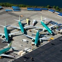 Boeing 737 Max, grounded at Renton, Wash.