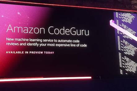 CodeGuru presented at re:Invent in Las Vegas