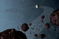 Artist Concept of Jovian Trojans (credit: NASA/JPL-Caltech)