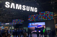 Las Vegas, Nevada - Jan 07, 2020: Samsung's booth on CES 2020