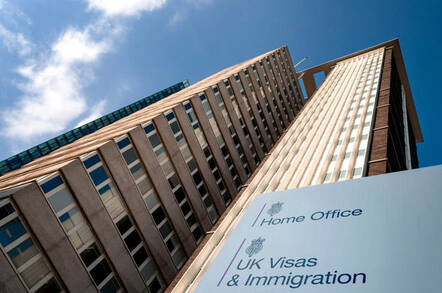 Croydon, UK - May 8, 2018: British immigration concept with Lunar House building the Home Office Visas and Immigration Office in Greater London, England, UK