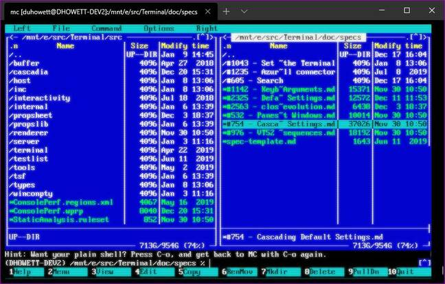 Retro CRT in Windows Terminal (pic: Microsoft)