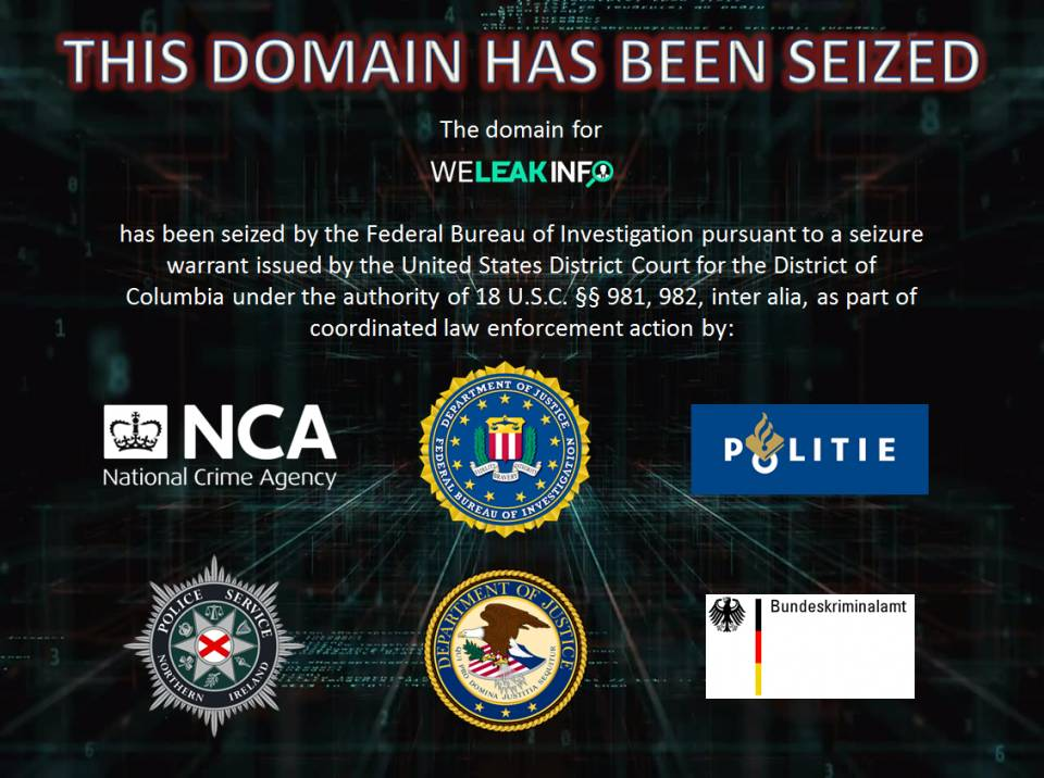 photo of Stolen creds site WeLeakInfo busted by multinational cop op for data reselling image
