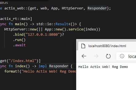 Developing a web application with Actix