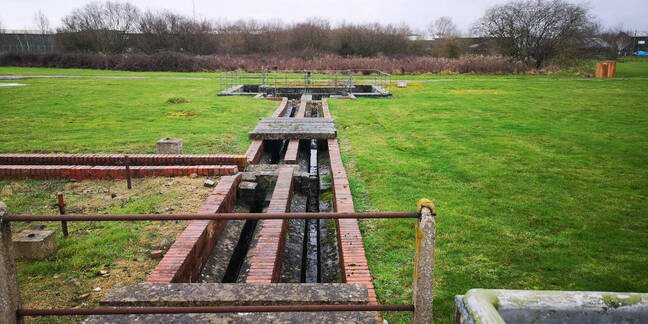 Part of the drainage system at Westcott. This section is behind Test Stand A