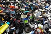 Pile of electronic waste
