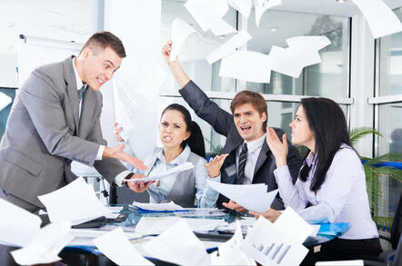 People arguing with each other in an office
