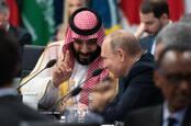 Saudi crown prince Mohammad bin Salman with Russian President Putin