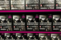 Call of Duty Modern Warfare games on a shelf