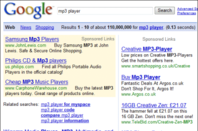 Google 2008: ads and search results confusingly munged together
