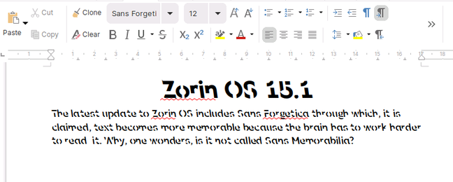 Sans Forgetica claims to be harder to read but easier to remember