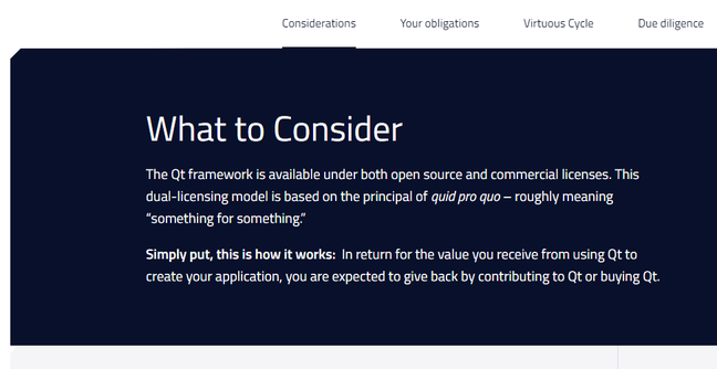 Qt asks open source users to consider their obligations