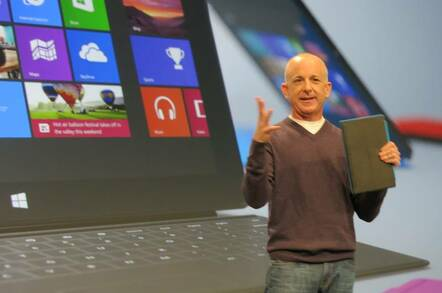 Steven Sinofsky at the launch of Surface RT in 2012
