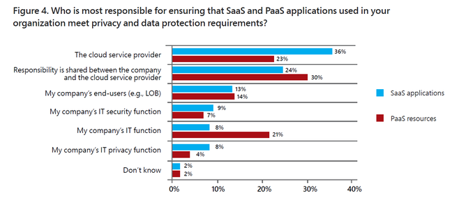 There is no consensus among IT professionals about where responsibility for compliance lies
