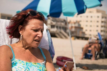 woman notices roaming charges on her european holiday