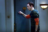 BBT's Sheldon knocking on a door