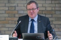 The ESA Director General Jan Wörner at his  start-of-the-year press briefing, held at ESA headquarters in Paris, France, on 15 January 2020. (c) ESA - P. Sebirot