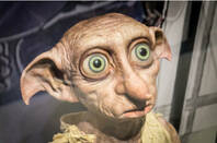 dobby the elf stares into space - harry potter film franchise. By Tero Vesalainen/shutterstock