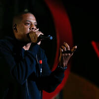 Rapper Jay-Z on stage