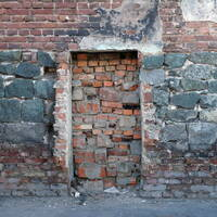 Image of a bricked-up doorway