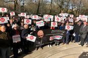 Protestation IR35. Photo: Robbie Harb pour The Register