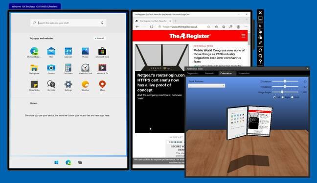 Microsoft's Windows 10X emulator