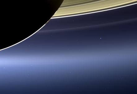 The Day the Earth Smiled (Courtesy Carolyn Porco) (pic: Cassini Imaging Team and NASA/JPL-Caltech/Space Science Institute/CICLOPS)