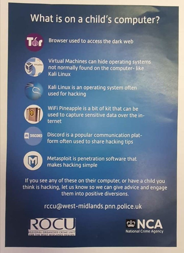West Midlands Regional Organised Crime Unit's silly poster