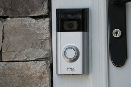 An Amazon Ring doorbell