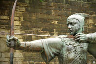 Statue of Robin Hood in Nottingham, UK