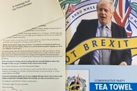 Brexit Tea Towel And Letter