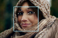 Illustration of facial recognition