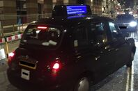 London Black Cab showing BSOD
