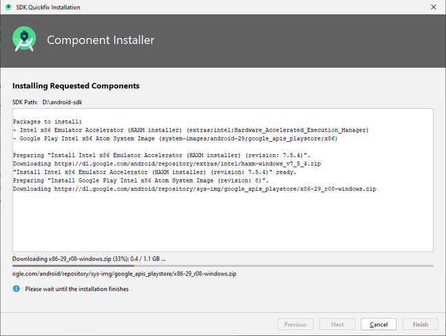 Android Studio is keen to install Intel HAXM even though is messes up Hyper-V