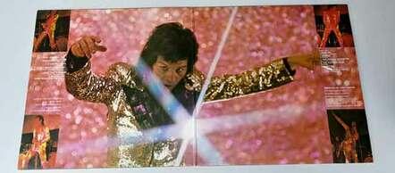 Glitter album inside gatefold vinyl