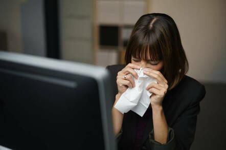 tissues sneezing exec